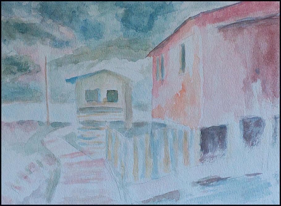 """""""Puerto Eden"""", Aquarell, 40*30cm"""