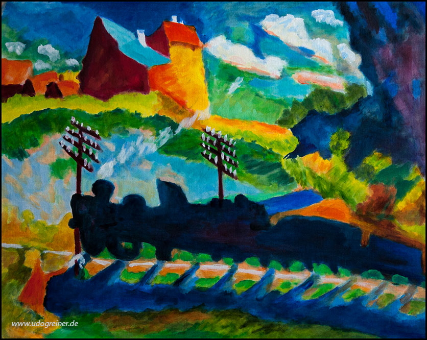Kopie Kandinsky, 50*40cm, Öl auf Leinwand